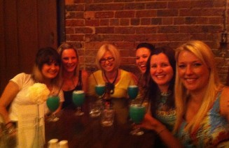 Some of my friends and my mum, enjoying a cocktail