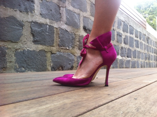 Side view of shoes