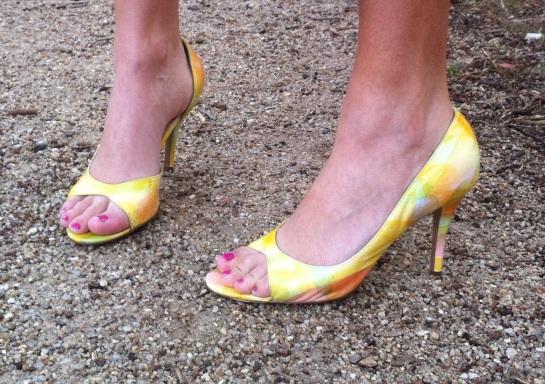 Tony Bianco Yellow Shoes