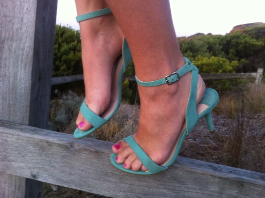 mint heels from Tony Bianco