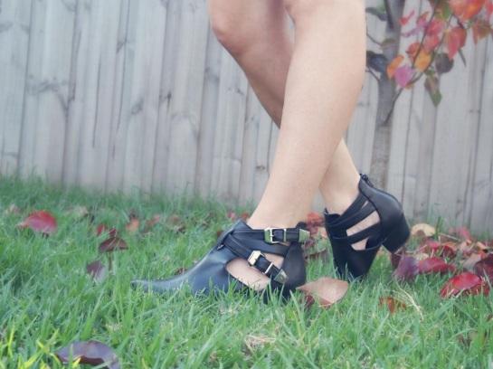 Black Cut out boots
